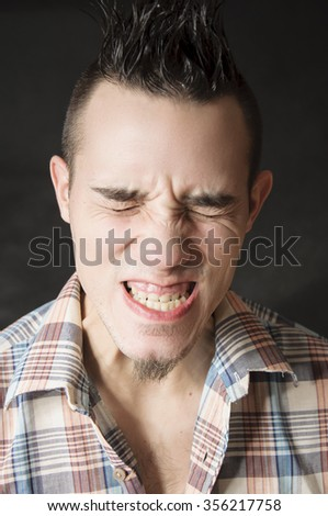 Angry and mad man - stock photo