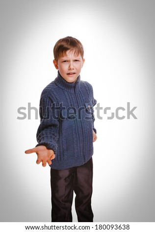 angry boy teenager waving his arms unhappy swears  family relations isolated on white background gray