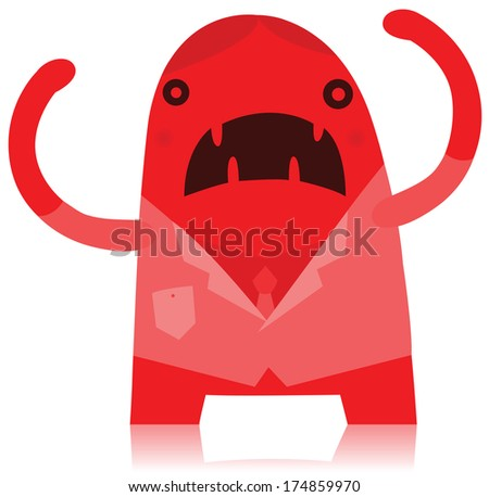 Angry Business Man Monster - stock photo