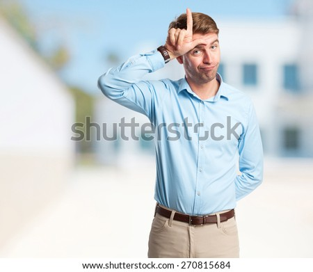 angry businessman on phone. company build background - stock photo