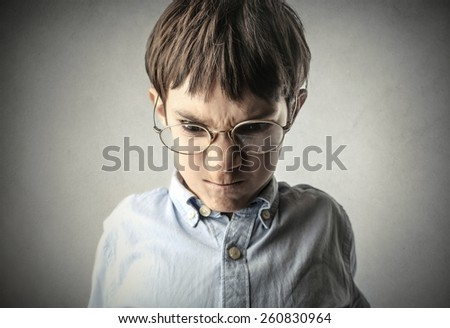 Angry child  - stock photo