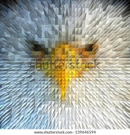 Angry Eagle - stock photo