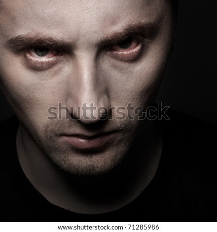 angry eyes - stock photo