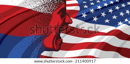 Angry face of Russia to USA