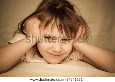 angry girl - stock photo