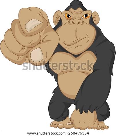 Angry Gorilla Cartoon Stock Vector 268496351 - Shutterstock - photo#24