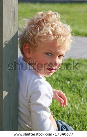Angry kid - stock photo