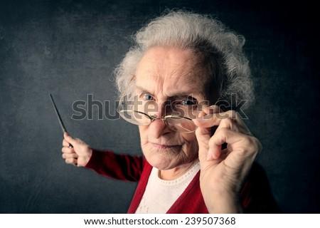 Angry teacher  - stock photo