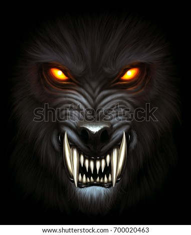 angry werewolf face - photo #3
