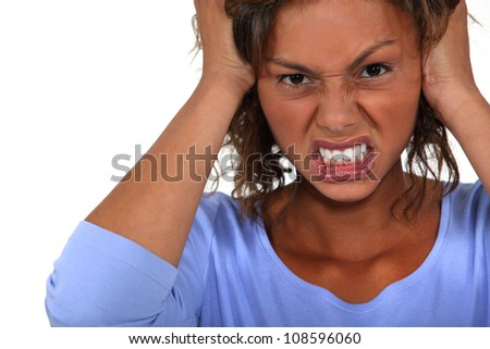 Angry woman. - stock photo