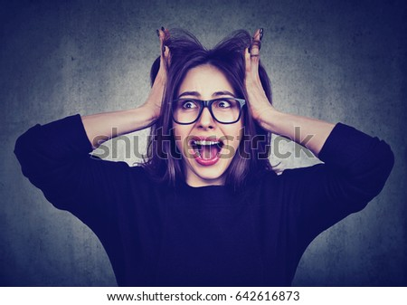 Angry Girl Stock Images, Royalty-Free Images & Vectors ...
