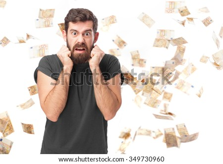 angry young man stressed - stock photo