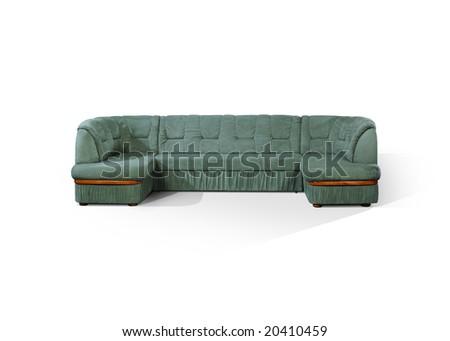 angular sofa - stock photo