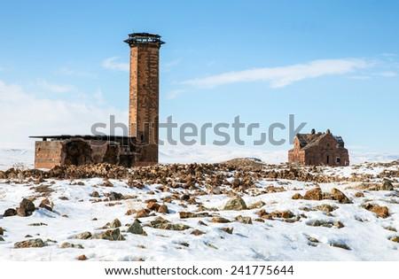 Ani Ruins - stock photo