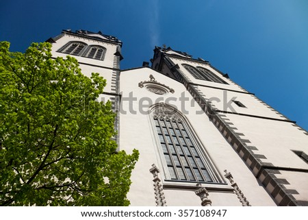 anicent St.Aegidien City Church Oschatz, Saxony, Germany