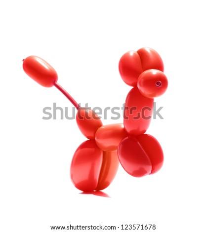 animal balloon action pose - stock photo
