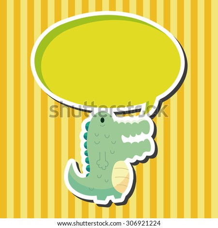 Animal crocodile icon, cartoon speech icon