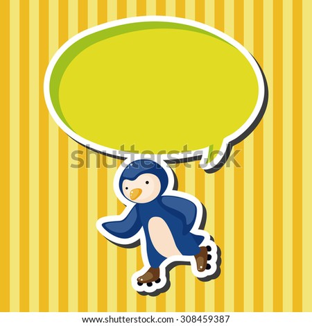 Animal doing sports cartoon, cartoon speech icon
