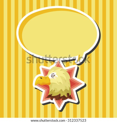 animal eagle cartoon, cartoon speech icon