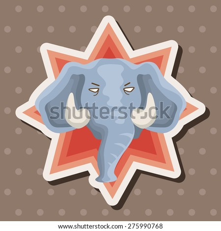 animal,ephant cartoon , cartoon sticker icon
