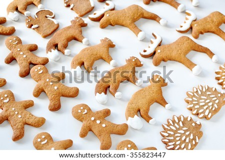 Animal gingerbread cookie