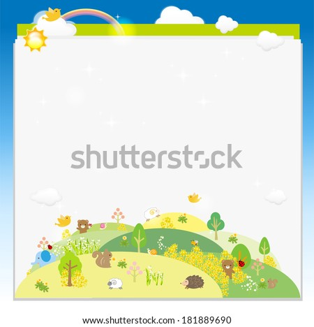 Animal in woods  Illustration  - stock photo