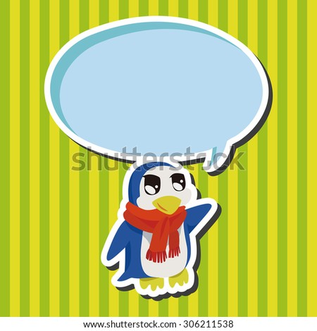 animal penguin cartoon, cartoon speech icon
