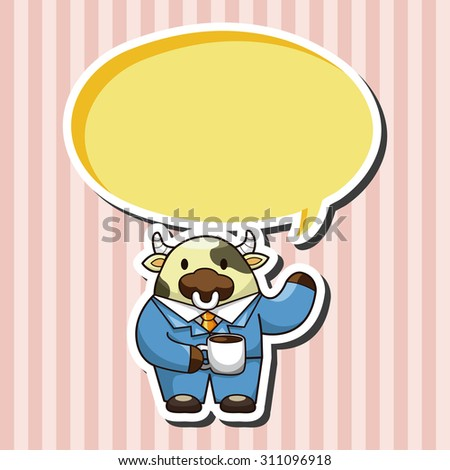 animal worker cartoon, cartoon speech icon