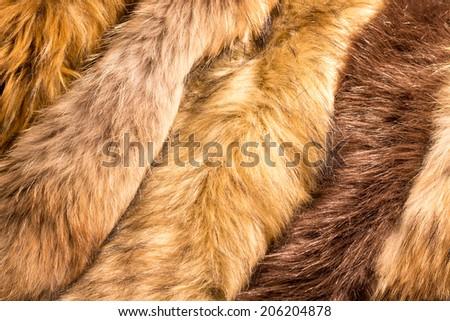 Animals fur - stock photo
