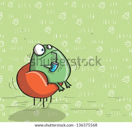 Animals having fun no 16 on green background for vector see image