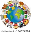 animals world - stock vector