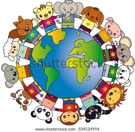 animals world - stock photo