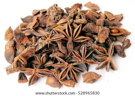 anis star with seed as tasty spice