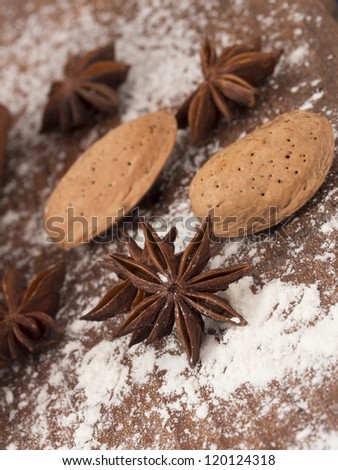 anise and almond - stock photo