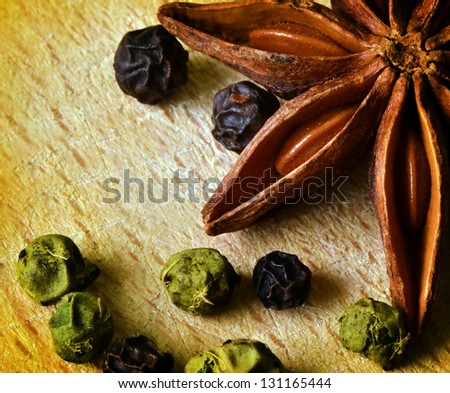 Anise composition - stock photo