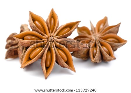 Anise isolated on white background - stock photo