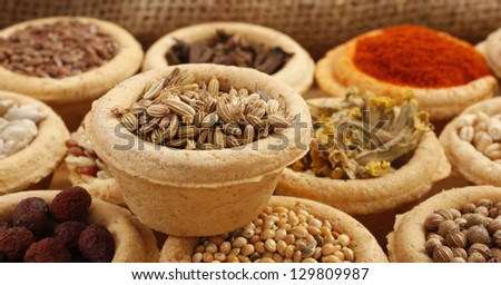 Anise seeds aniseed and other spices