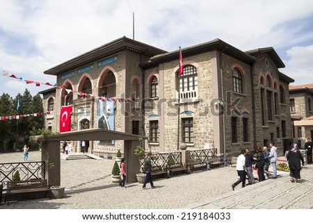 ANKARA - APR 23: First Turkish Parliament Building (Repuclic Museum now) on April 23, 2014 in Ankara , Turkish Republic was founded by under the leadership of Mustafa Kemal ATATURK on the building.