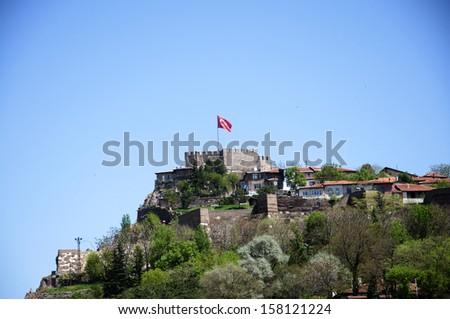 ankara castle - stock photo