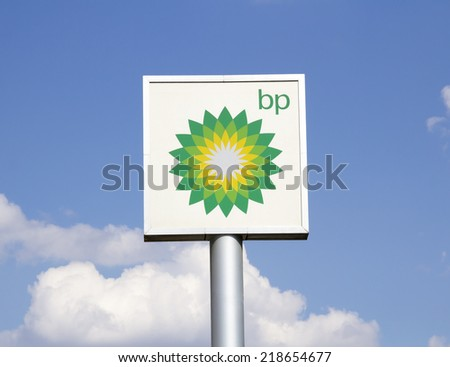 Ankara - JUNE 21: british petrol on June 21,2014 in Turkey. British Petroleum is a British multinational oil and gas company headquartered in London, England.