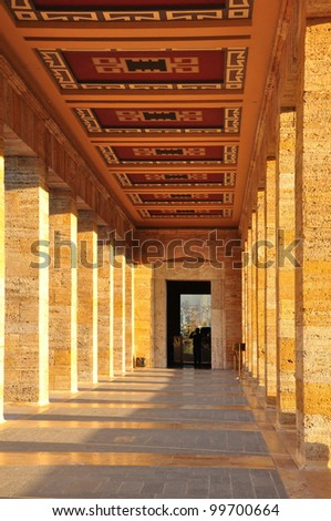 Ankara November 1: View of Corridors Ataturk Mausoleum on November 1, 2010 in Ankara Turkey