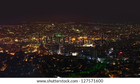 Ankara Turkey at night - architecture travel background