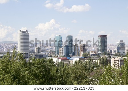 ANKARA, TURKEY - MAY 31: city of Ankara, Ankara is the capital city of Turkey on 31 MAY 2014, Ankara , it is the second most crowded city of Turkey,