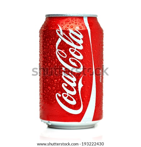 ANKARA TURKEY - May 17, 2014 Editorial photo of Classic Coca-Cola can on White Background. Coca-Cola Company is the most popular market leader in Turkey.