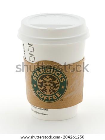 Ankara, Turkey - May 31, 2012: Tall Starbucks Coffee Cup     - stock photo