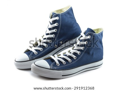 Ankle Sneakers jeans on white background