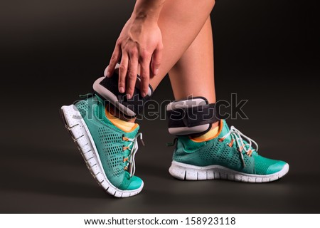 Ankle weights - stock photo