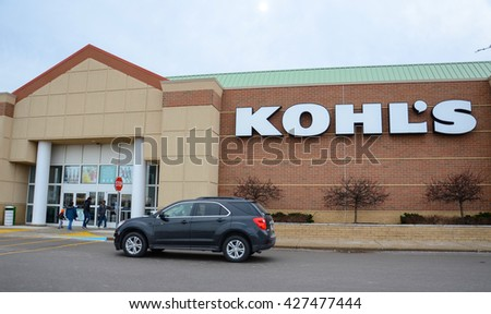 ANN ARBOR, MI - JANUARY 30: Kohl's, whose south Ann Arbor store is shown on January 30, 2016, has close to 1,200 stores nationwide.  - stock photo