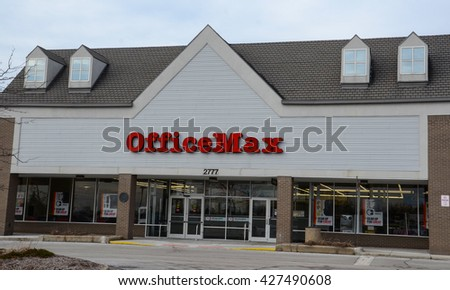 ANN ARBOR, MI - JANUARY 30: OfficeMax, whose south Ann Arbor, MI store is shown January 30, 2016, merged with Office Depot in 2013.