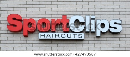 ANN ARBOR, MI - JANUARY 30: Sport Clips, whose south Ann Arbor, MI store logo is shown January 30, 2016, opened its 1,500th location in April 2016.